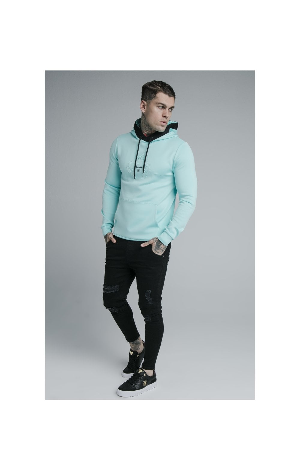 Load image into Gallery viewer, SikSilk Prestige Overhead Hoodie - Teal (2)