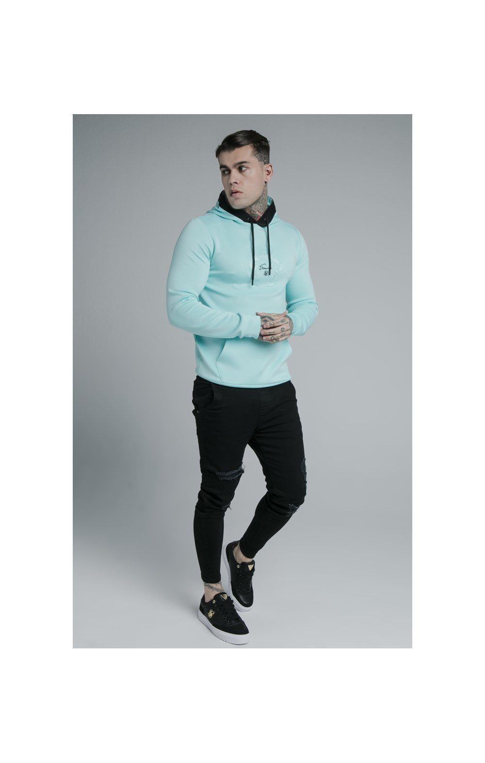 Load image into Gallery viewer, SikSilk Prestige Overhead Hoodie - Teal (3)