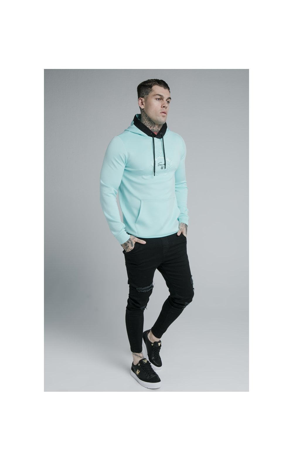 Load image into Gallery viewer, SikSilk Prestige Overhead Hoodie - Teal (4)