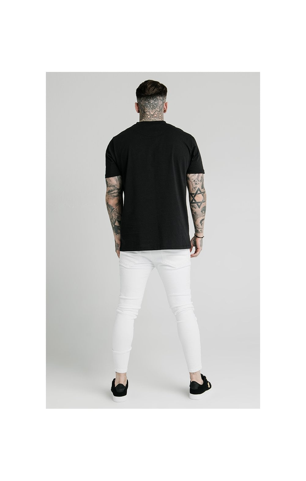 Load image into Gallery viewer, SikSilk Distressed Prestige Skinny Denims - White (7)