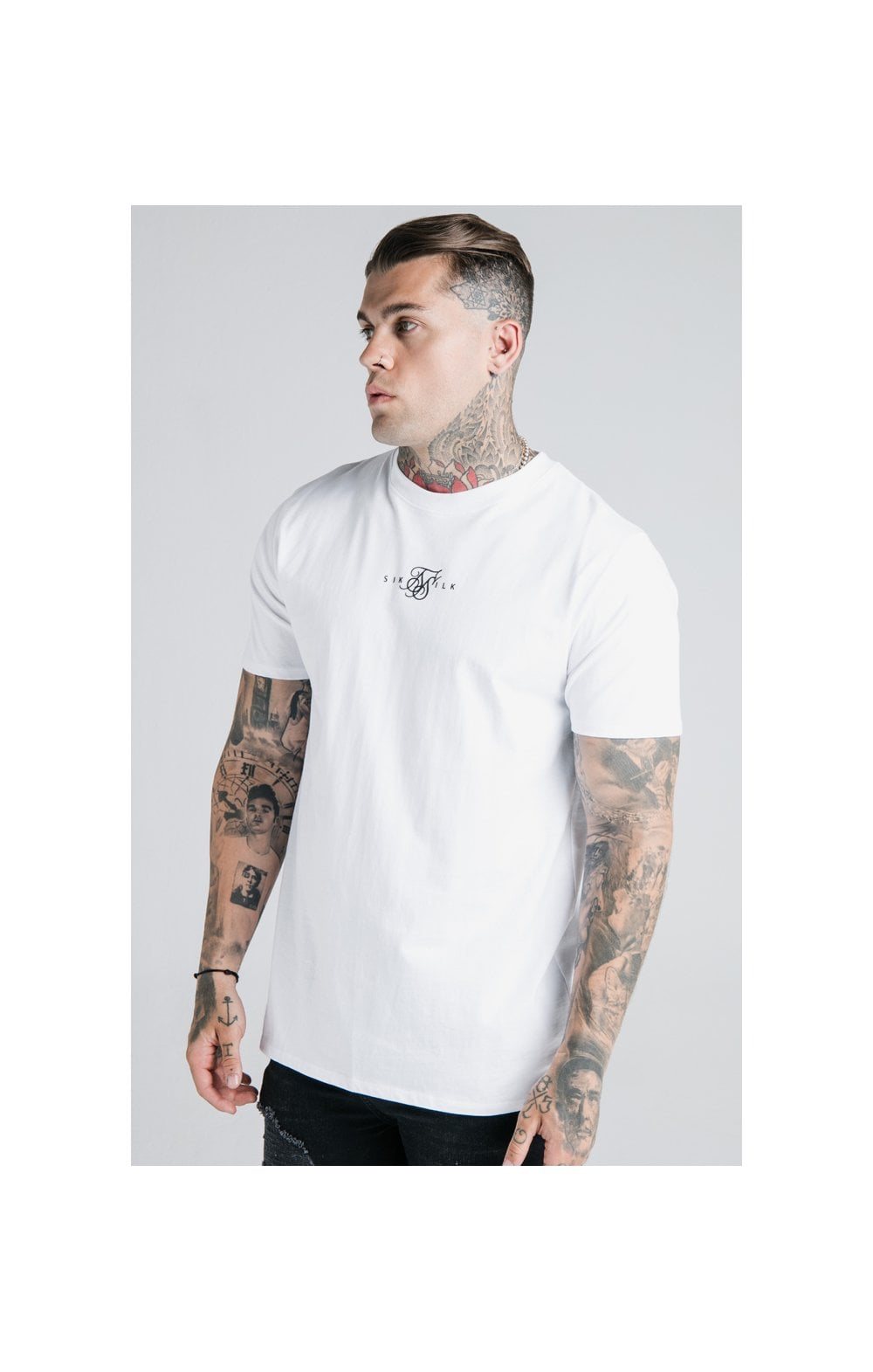 Load image into Gallery viewer, SikSilk S/S Basic Core Tee – White