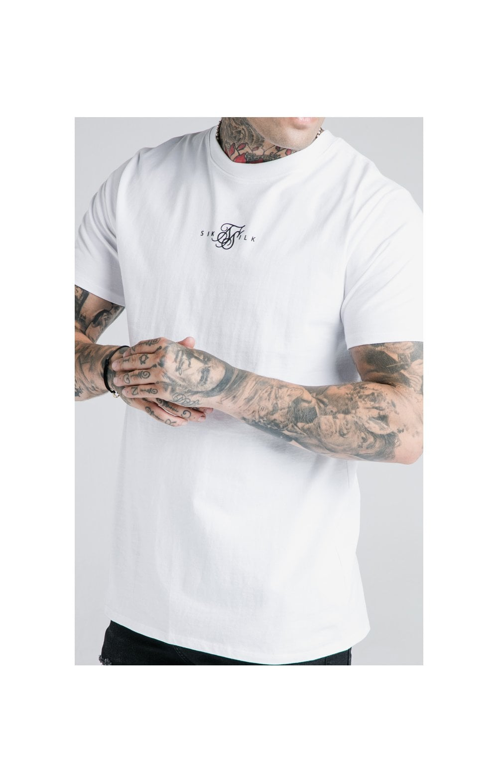 Load image into Gallery viewer, SikSilk S/S Basic Core Tee – White (1)