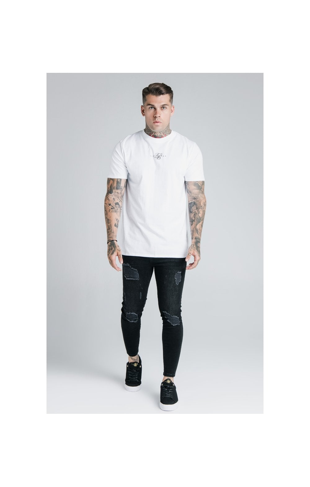 Load image into Gallery viewer, SikSilk S/S Basic Core Tee – White (2)