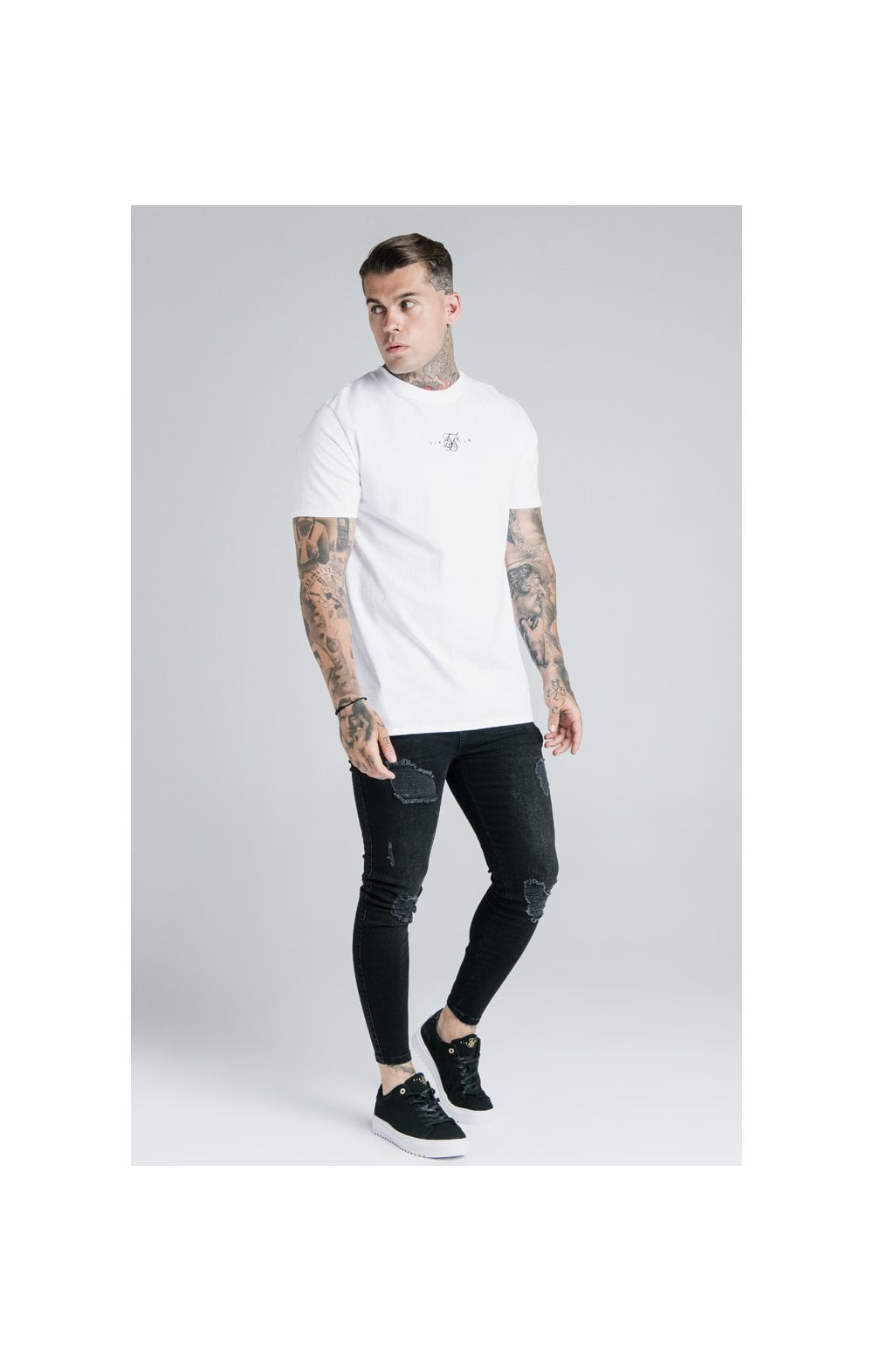 Load image into Gallery viewer, SikSilk S/S Basic Core Tee – White (3)