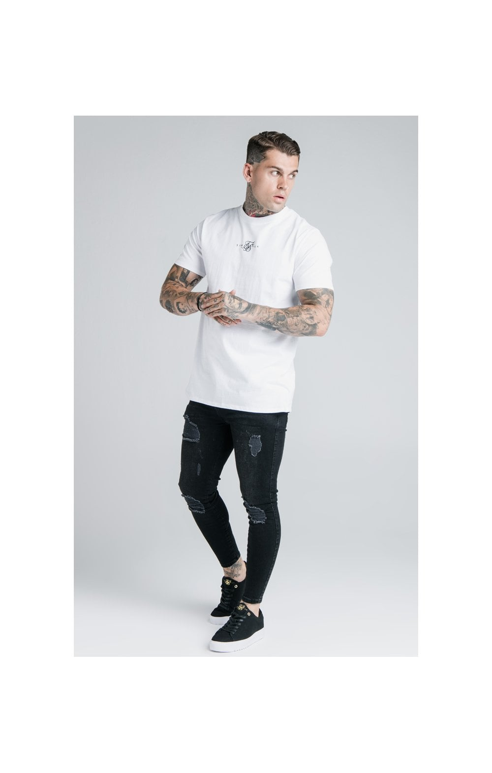 Load image into Gallery viewer, SikSilk S/S Basic Core Tee – White (4)