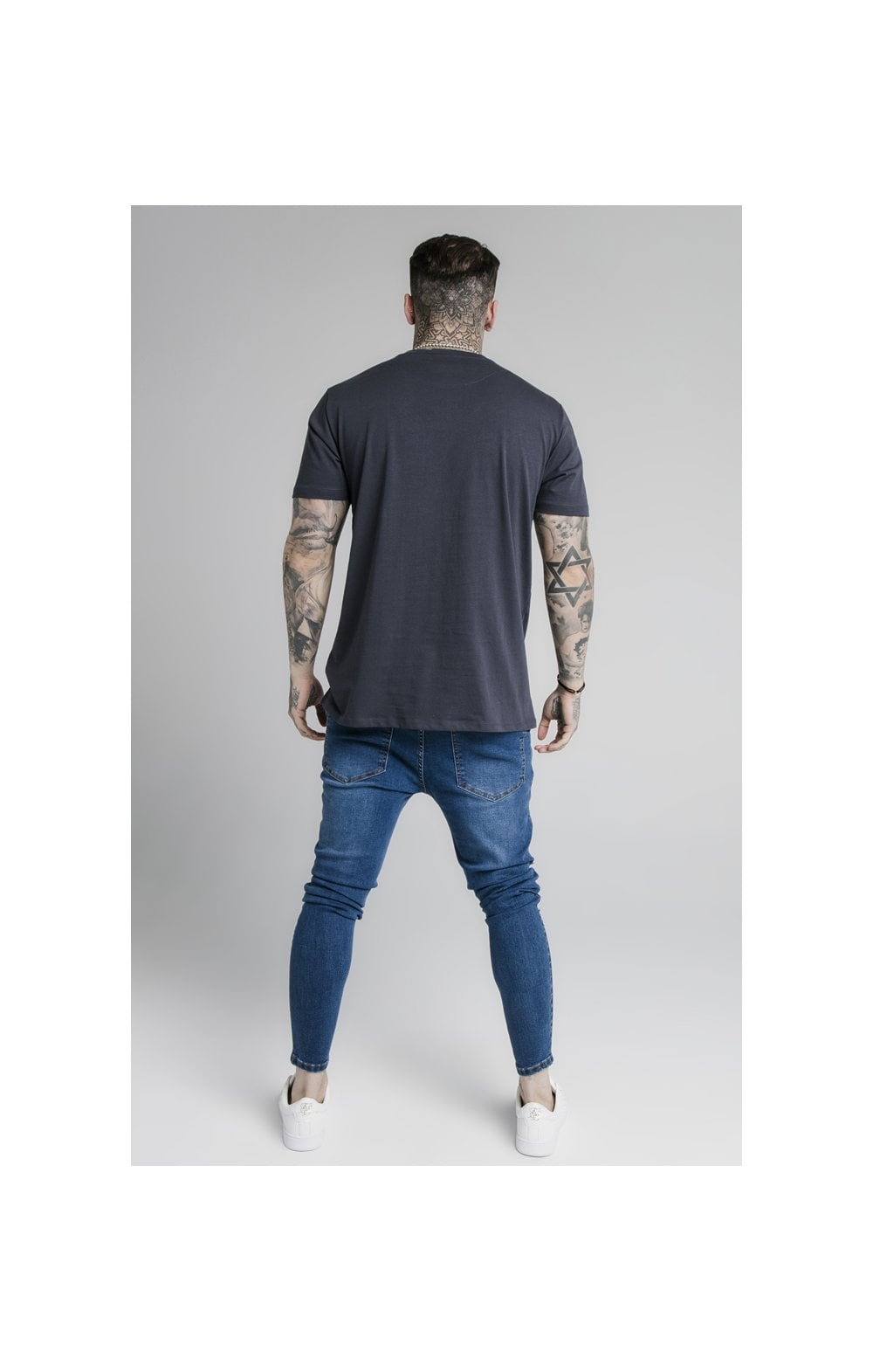 Load image into Gallery viewer, SikSilk S/S Basic Core Tee – Navy (5)