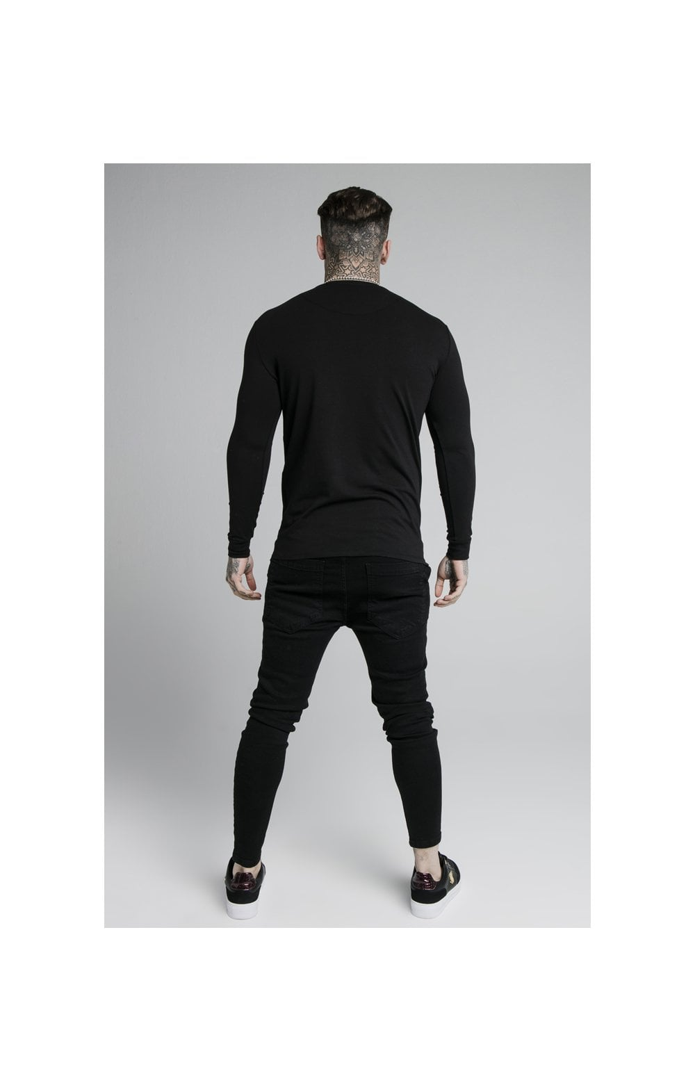 SikSilk L/S Straight Hem Gym Tee – Black (5)