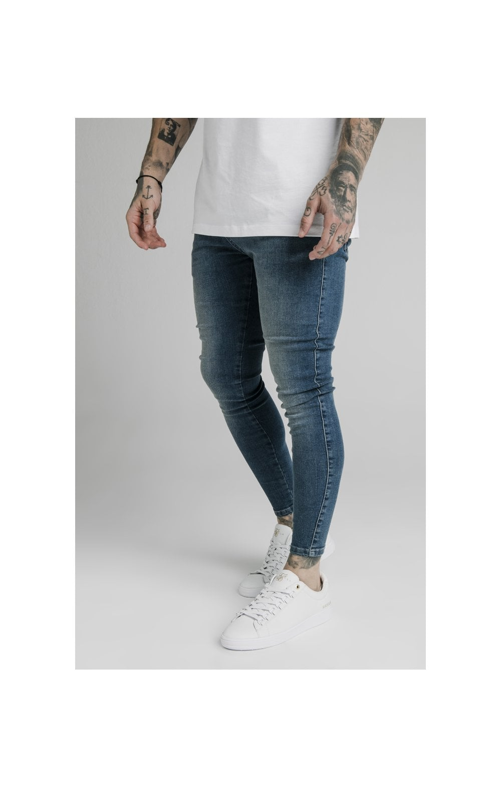 SikSilk Skinny Denim – Midstone (3)