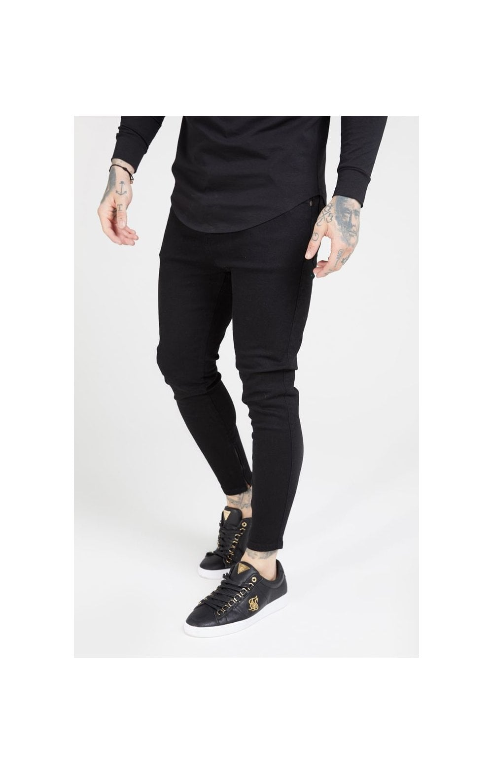 Load image into Gallery viewer, SikSilk Drop Crotch Denims – Black