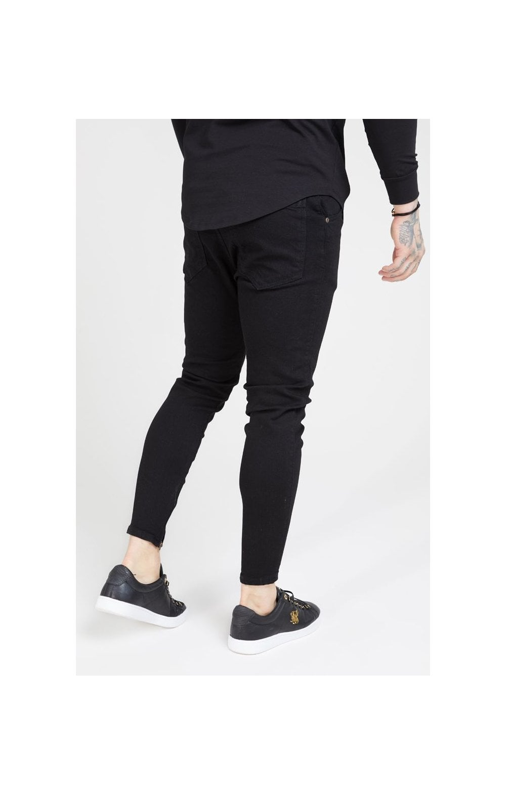Load image into Gallery viewer, SikSilk Drop Crotch Denims – Black (1)