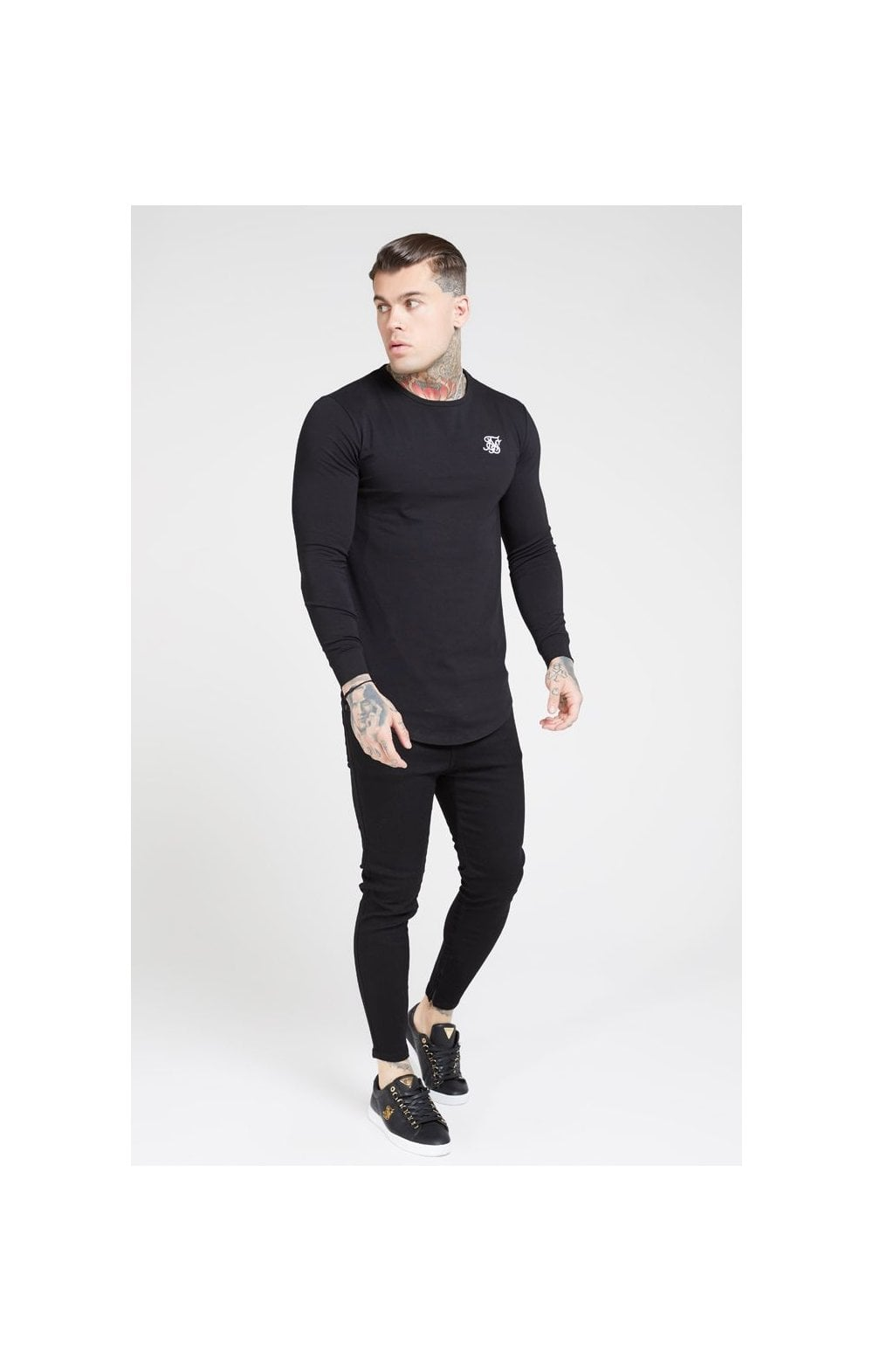 Load image into Gallery viewer, SikSilk Drop Crotch Denims – Black (2)