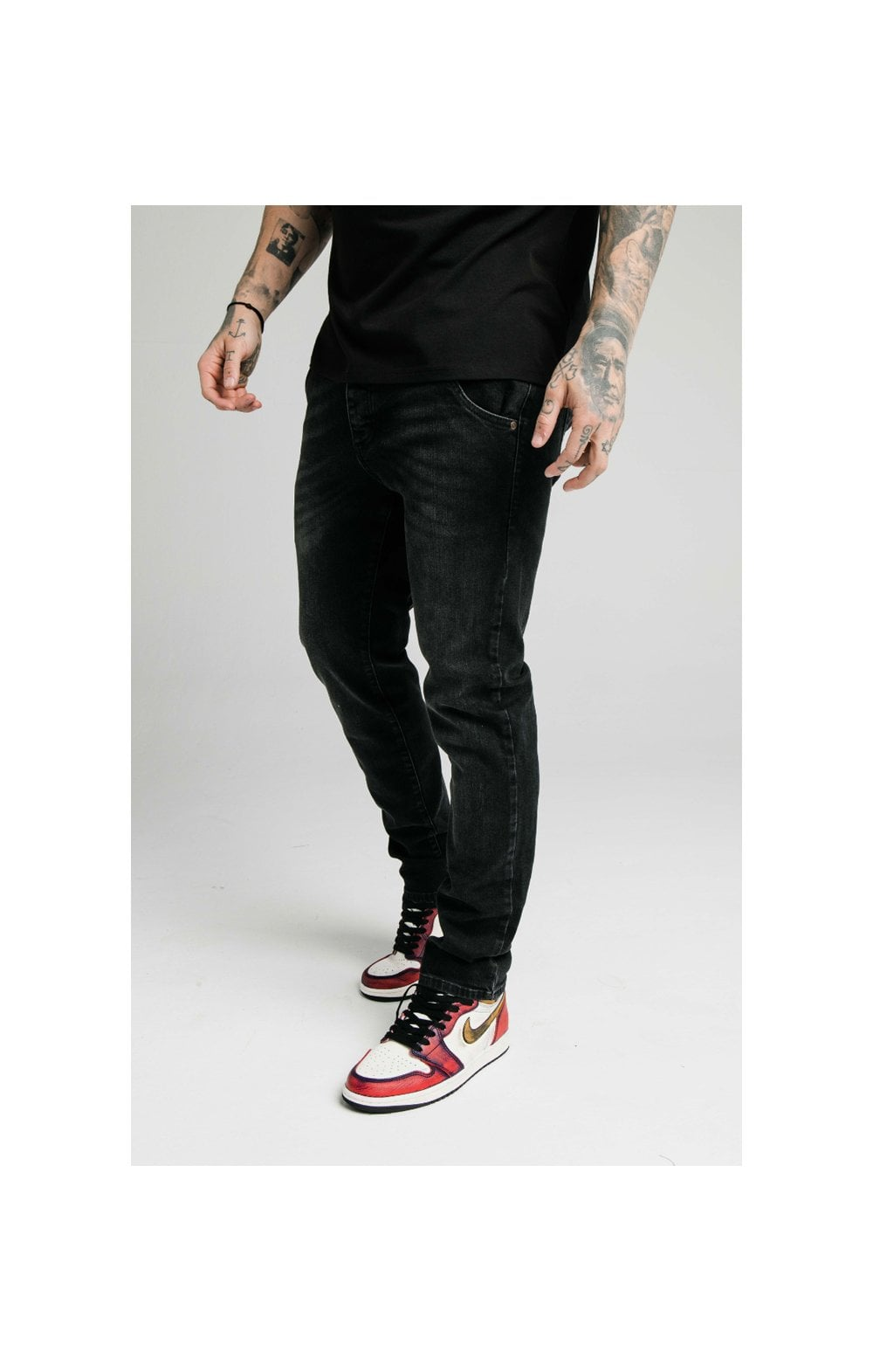 SikSilk Straight Cut Recycled Denim - Black