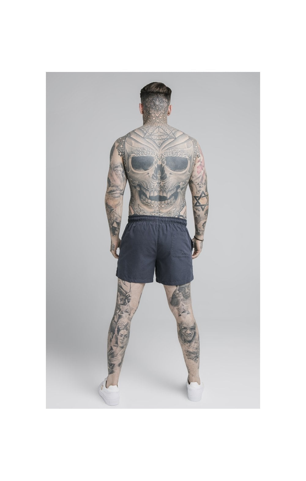 Load image into Gallery viewer, SikSilk Standard Swim Shorts – Navy (3)