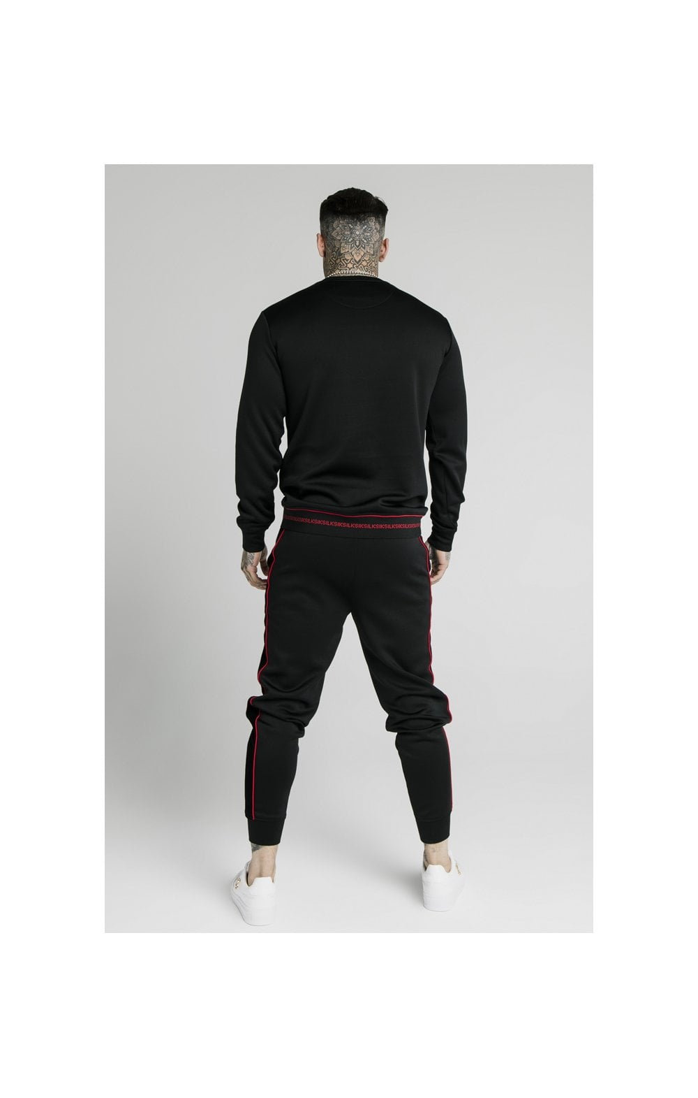 SikSilk Imperial Crew Neck Sweater - Black (6)