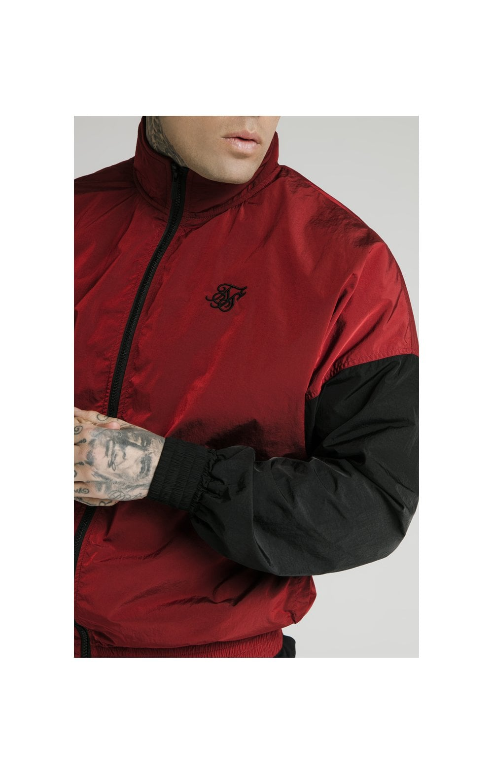 SikSilk Windrunner – Red & Black (1)
