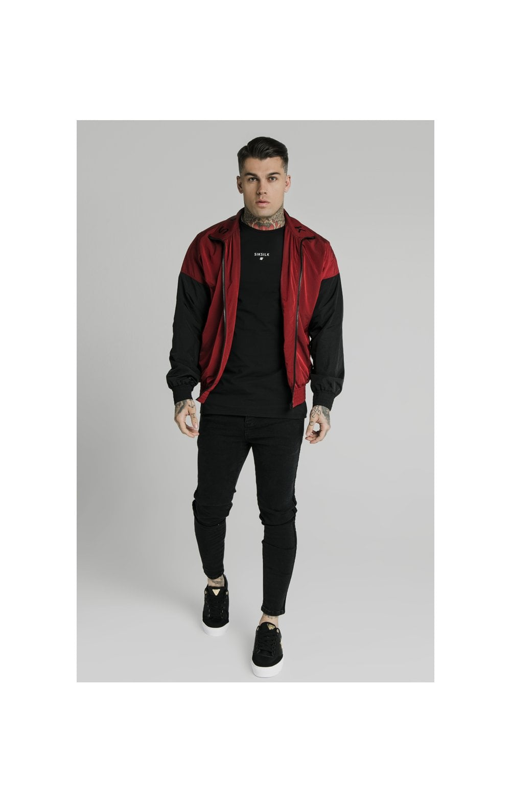 SikSilk Windrunner – Red & Black (2)
