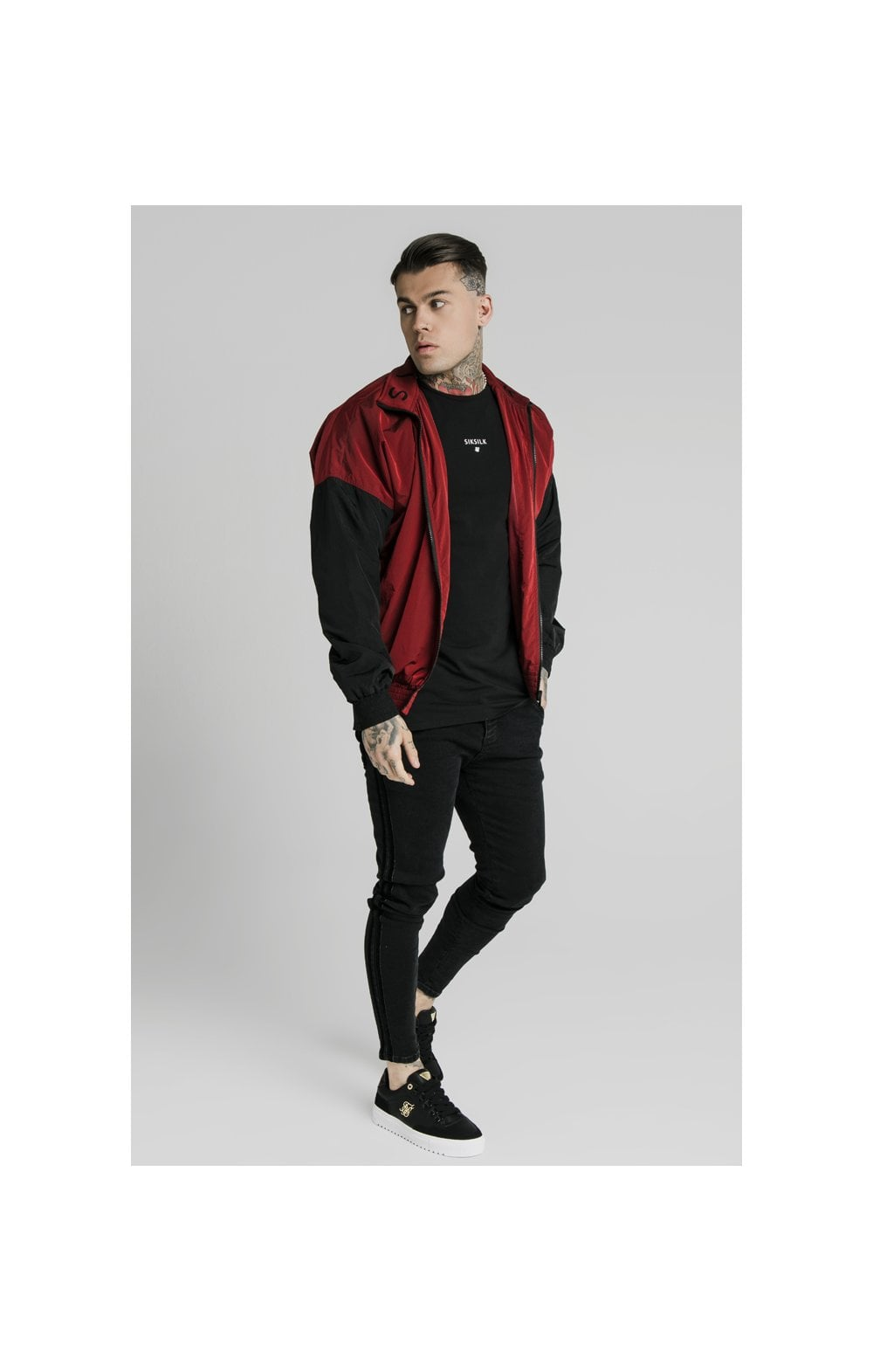Load image into Gallery viewer, SikSilk Windrunner – Red & Black (3)