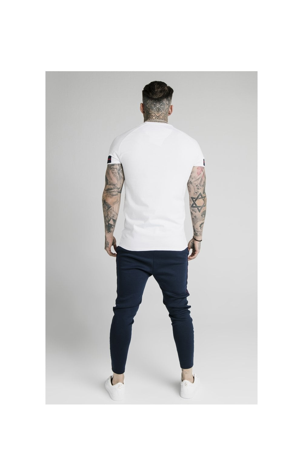 Load image into Gallery viewer, SikSilk Raglan Tech Tee Exposed Tape - White (7)
