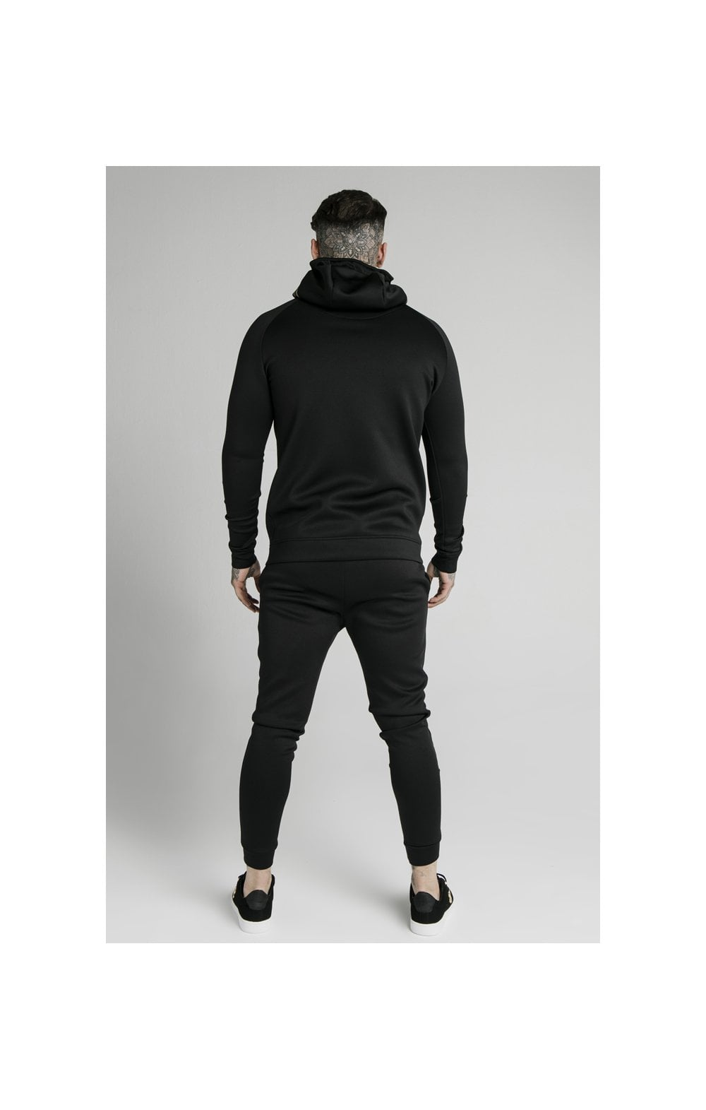 Load image into Gallery viewer, SikSilk Element Zip Through Hoodie - Black & Gold (6)