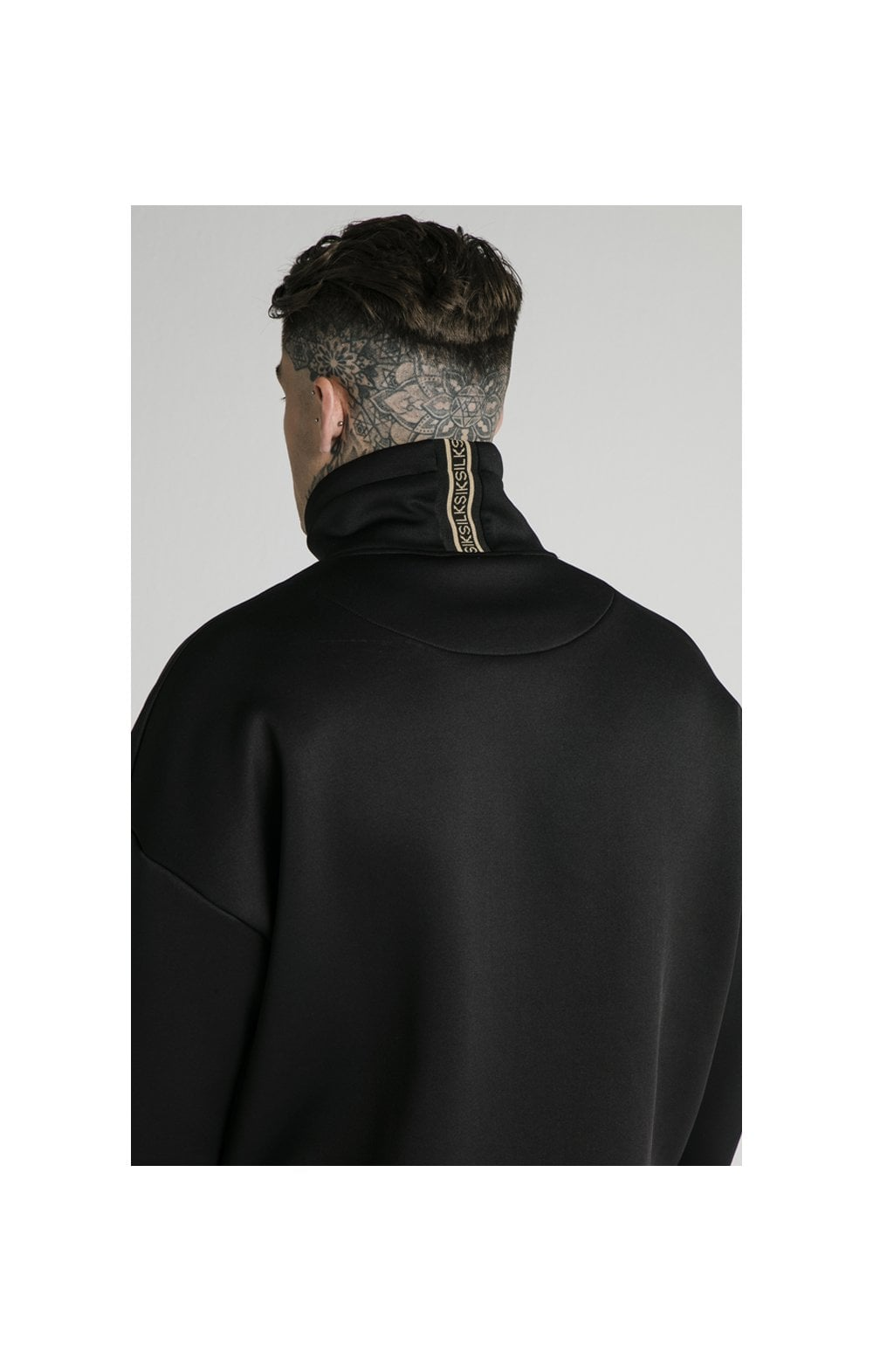 SikSilk Element Quarter Zip Hoodie – Black & Gold (2)