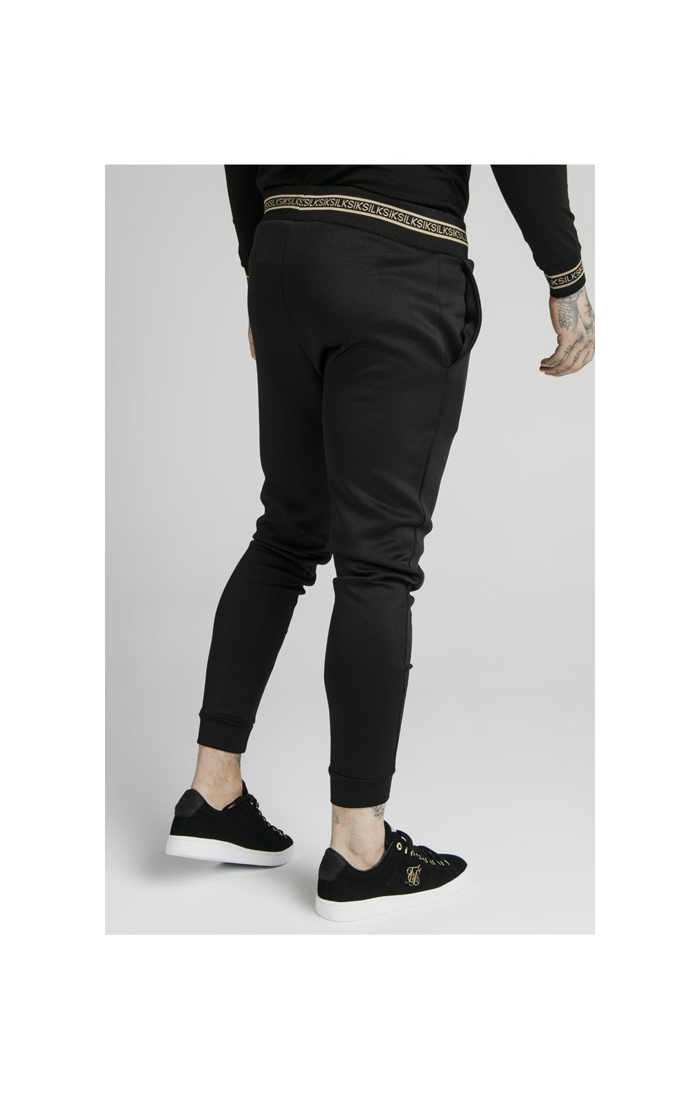 SikSilk Element Muscle Fit Cuff Joggers– Black & Gold (3)