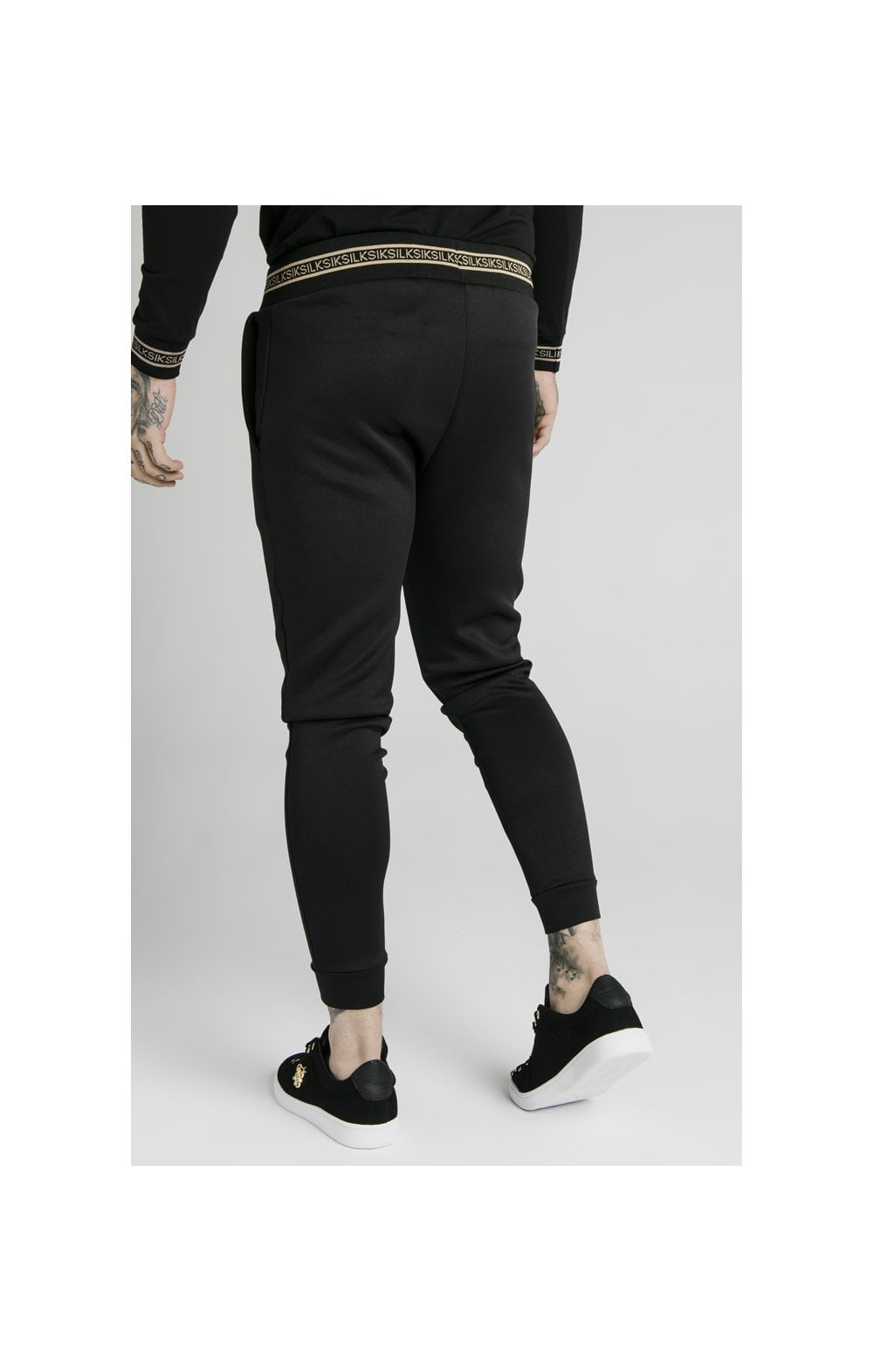 SikSilk Element Muscle Fit Cuff Joggers– Black & Gold (4)