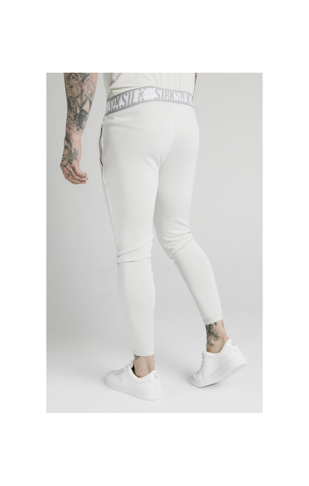 SikSilk Scope Tape Track Pant - Ice Grey (1)