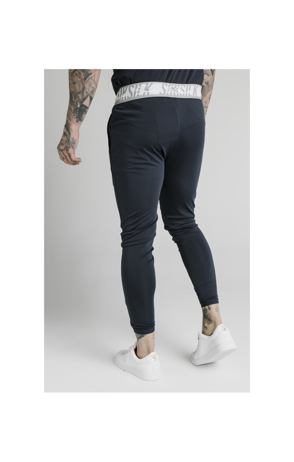 SikSilk Scope Tape Track Pant - Navy (3)