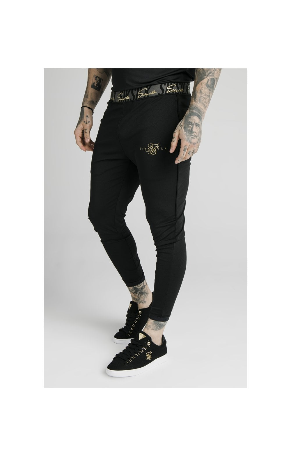 SikSilk Scope Tape Track Pant - Black