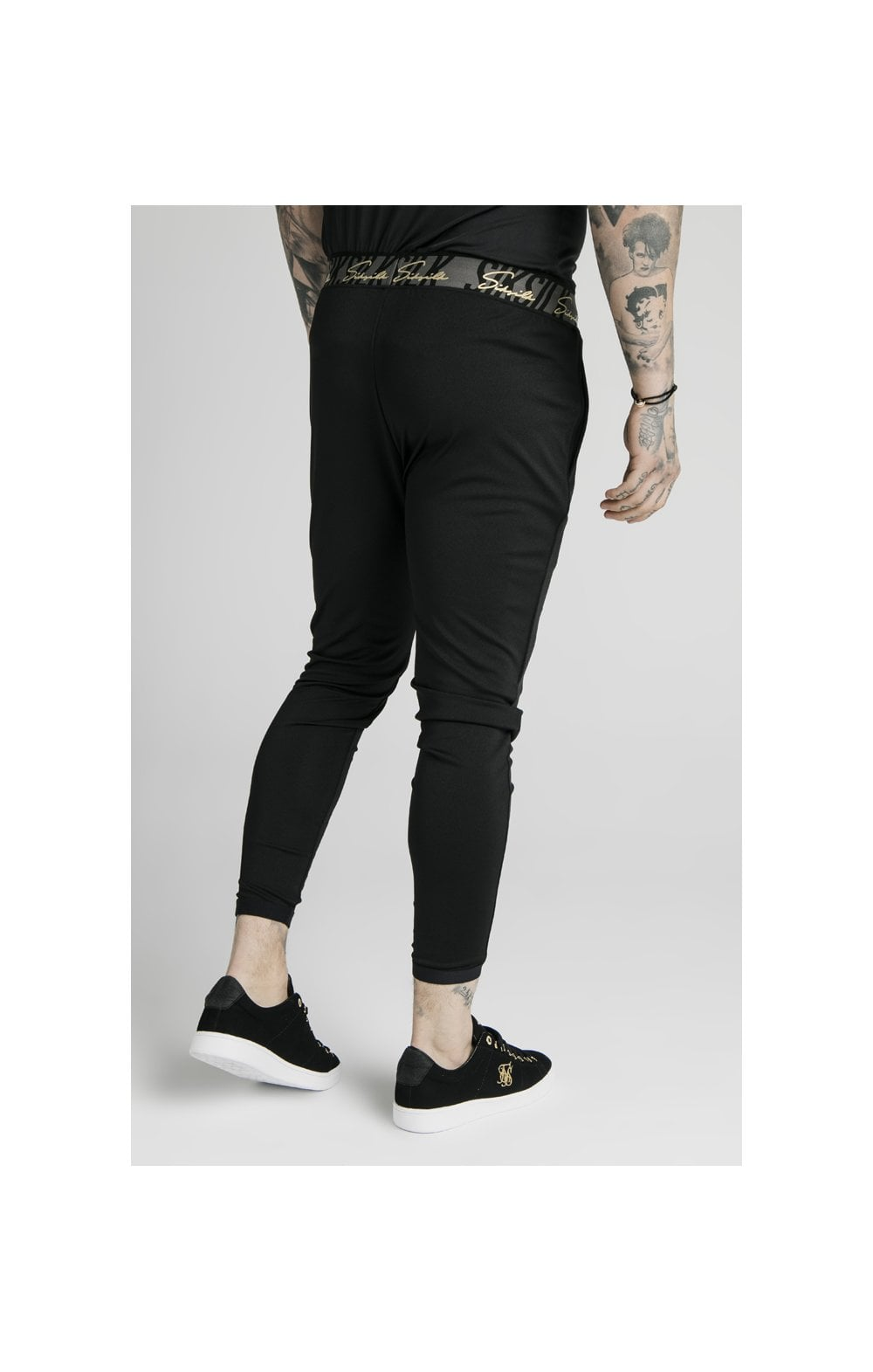 SikSilk Scope Tape Track Pant - Black (2)