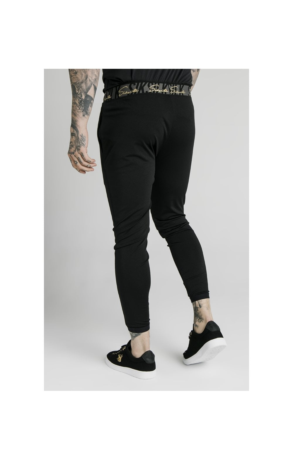 SikSilk Scope Tape Track Pant - Black (3)