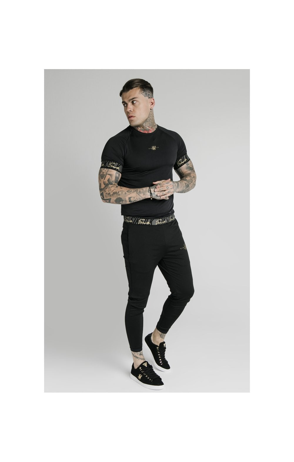 SikSilk Scope Tape Track Pant - Black (4)