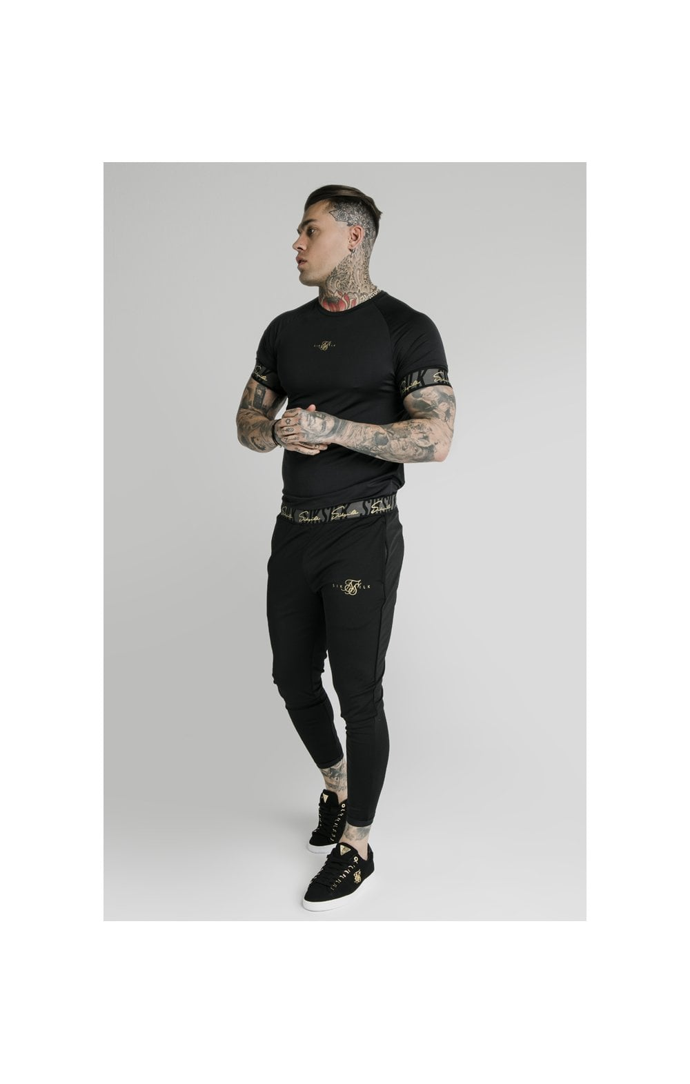 SikSilk Scope Tape Track Pant - Black (5)