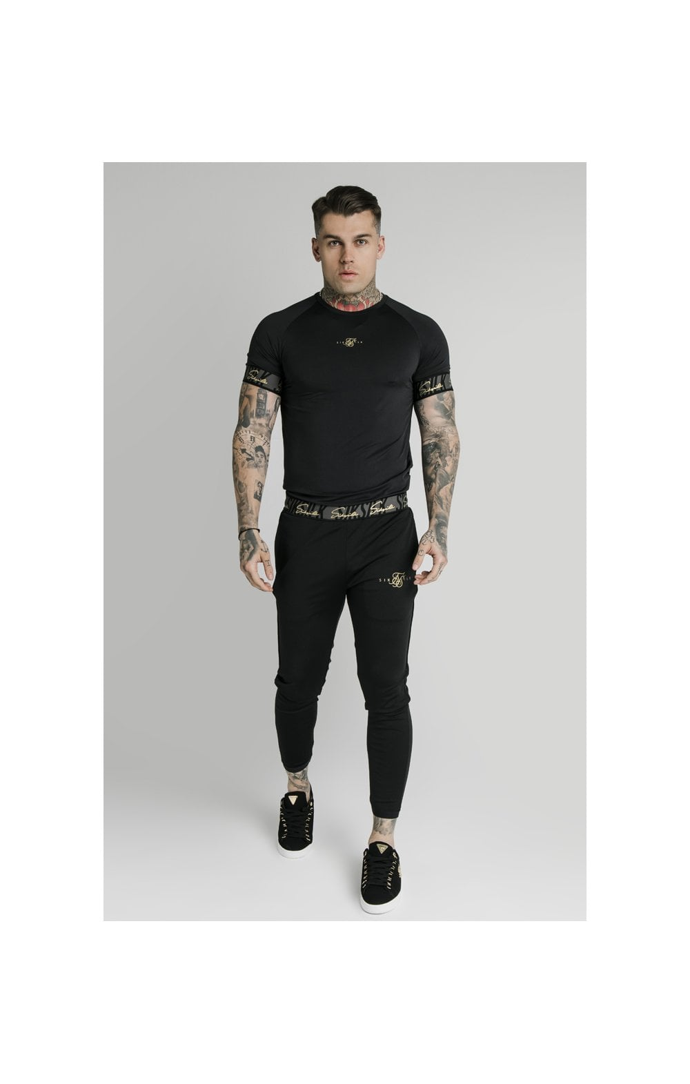 SikSilk Scope Tape Track Pant - Black (6)