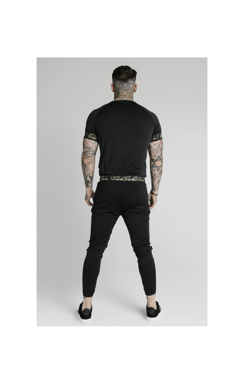 SikSilk Scope Tape Track Pant - Black (7)