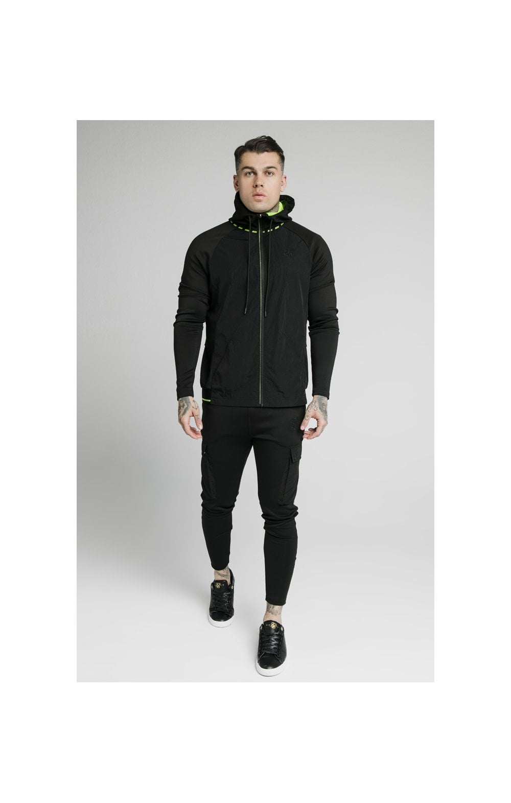 SikSilk Adapt Crushed Nylon Zip Through – Black (2)