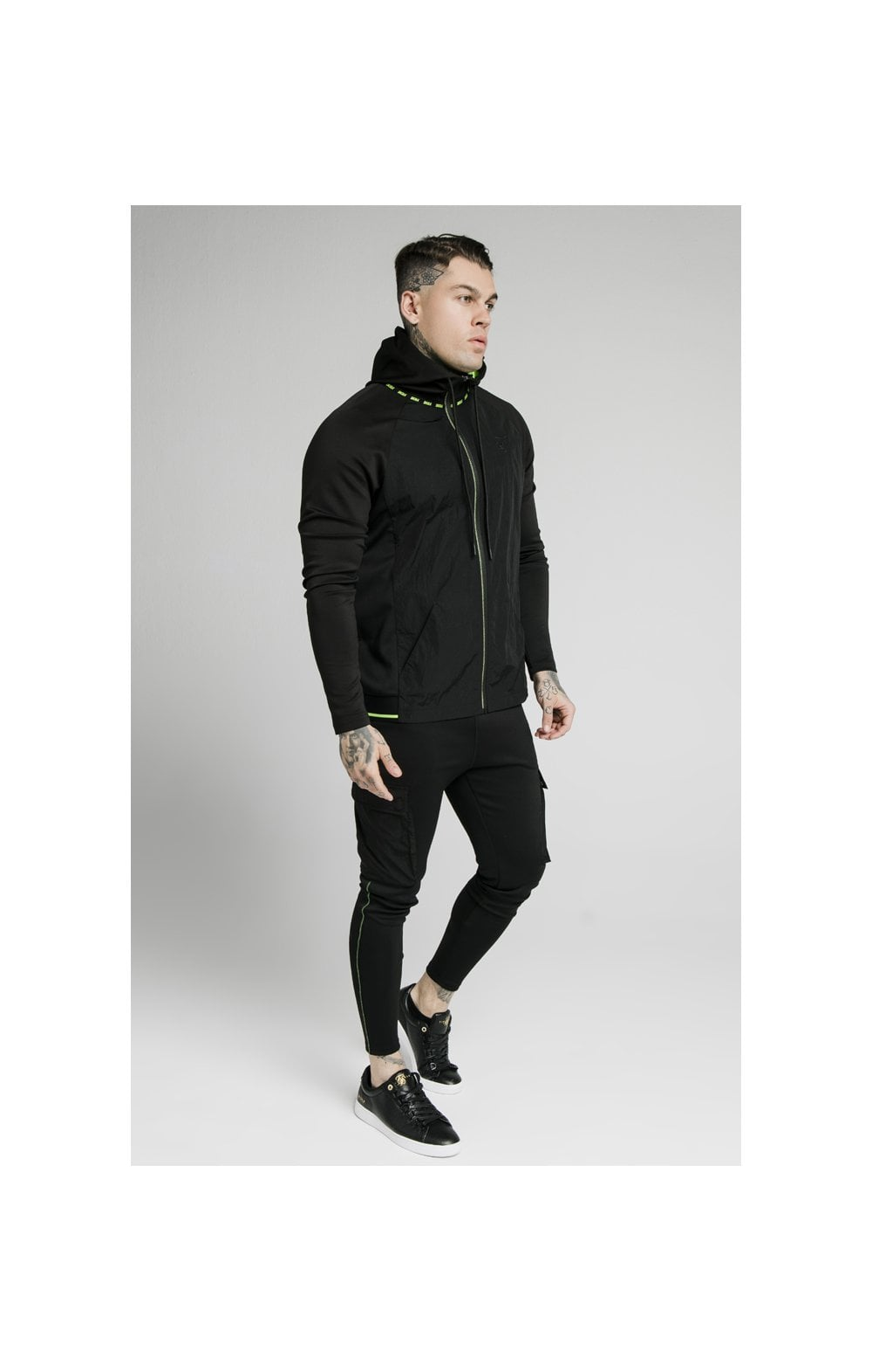 SikSilk Adapt Crushed Nylon Zip Through – Black (4)