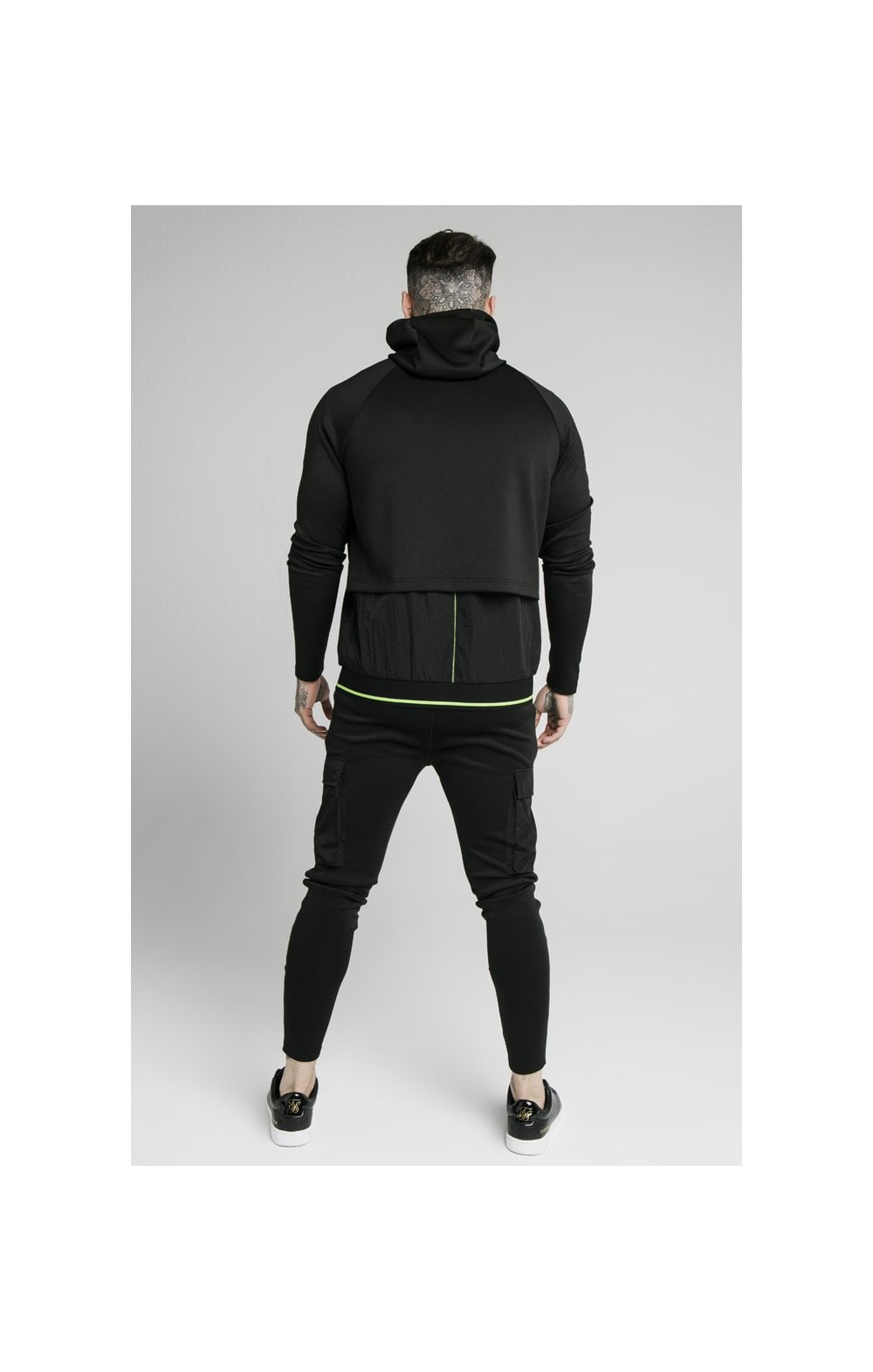 SikSilk Adapt Crushed Nylon Zip Through – Black (7)