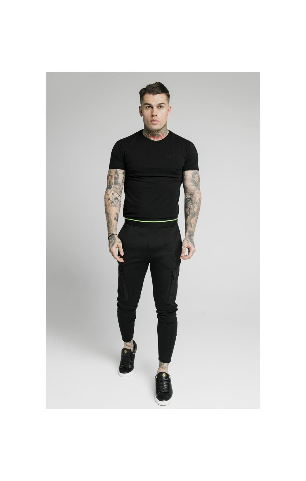SikSilk S/S Gym Tee – Black (3)