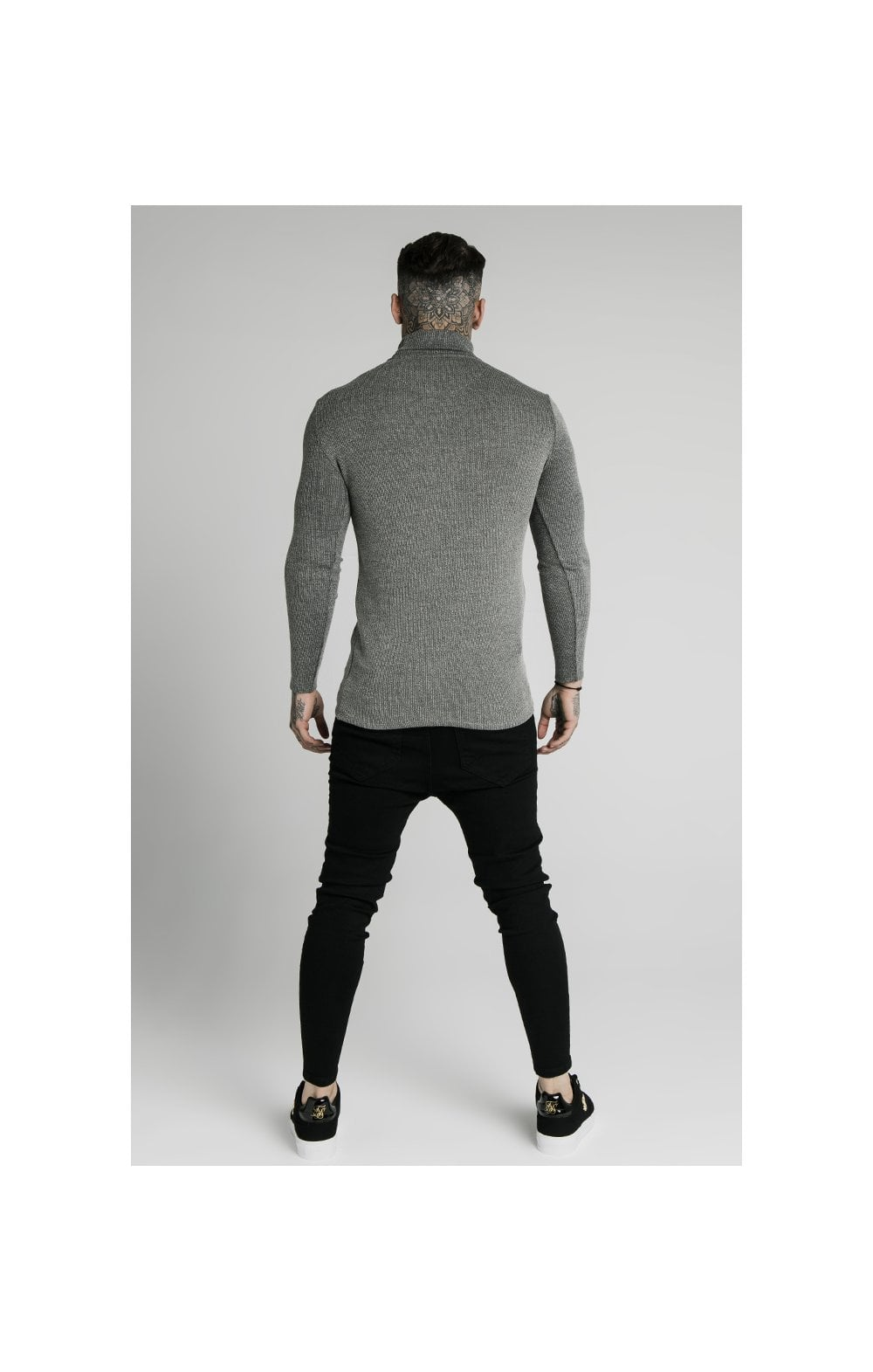 SikSilk Rib Turtle Neck - Grey (5)
