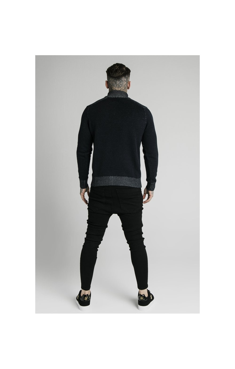 SikSilk Rib Turtle Neck - Navy (5)