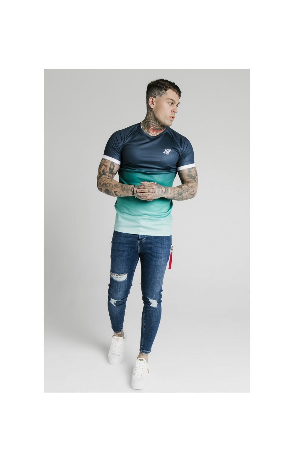 Load image into Gallery viewer, SikSilk Distressed Flight Denims – Midstone (1)