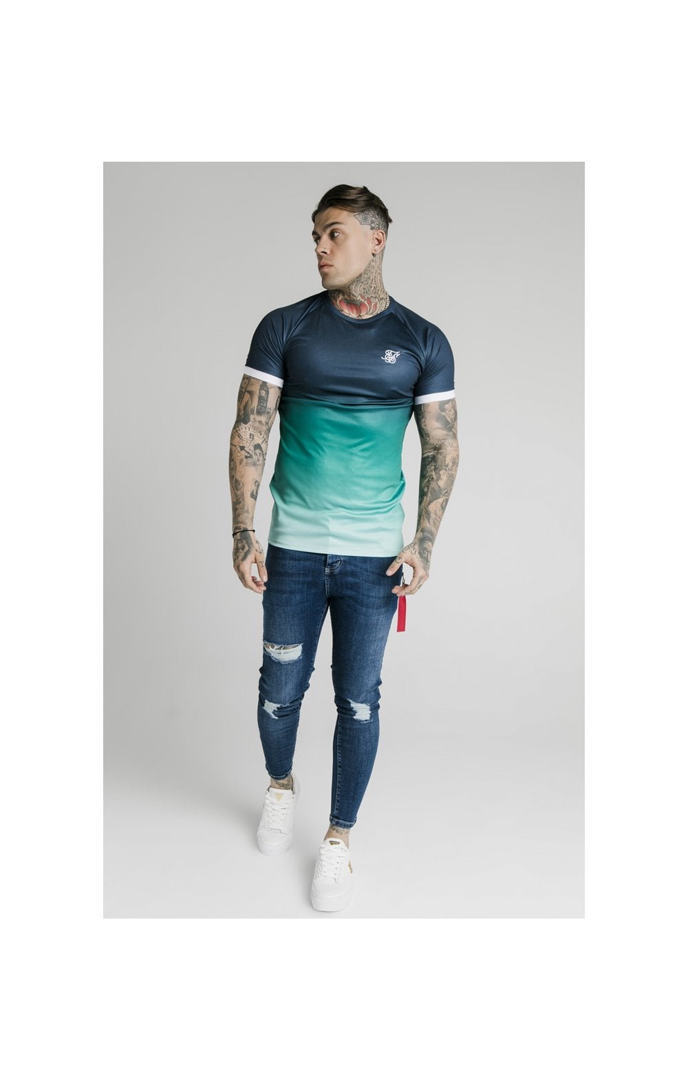 Load image into Gallery viewer, SikSilk Distressed Flight Denims – Midstone (3)