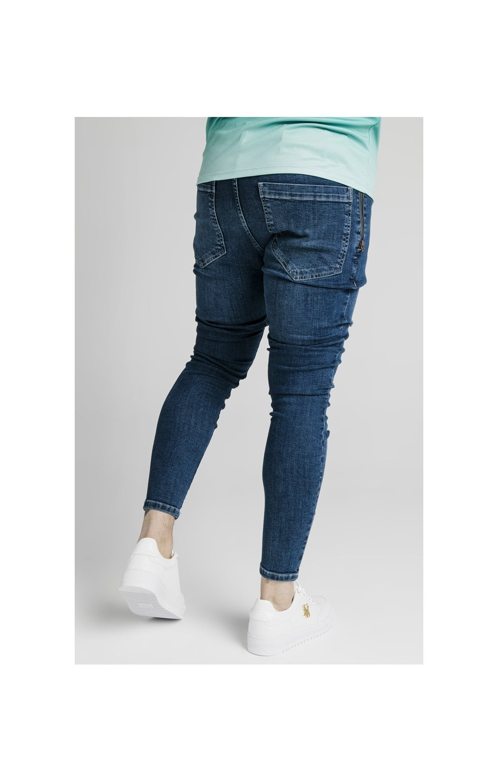 Load image into Gallery viewer, SikSilk Distressed Flight Denims – Midstone (4)