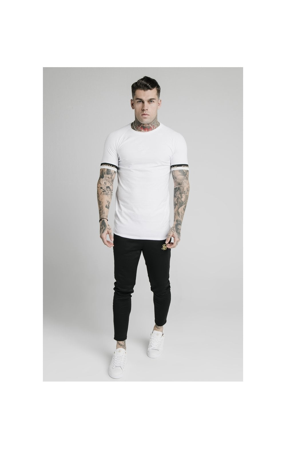 Load image into Gallery viewer, SikSilk S/S Deluxe Raglan Tech Tee - White (1)
