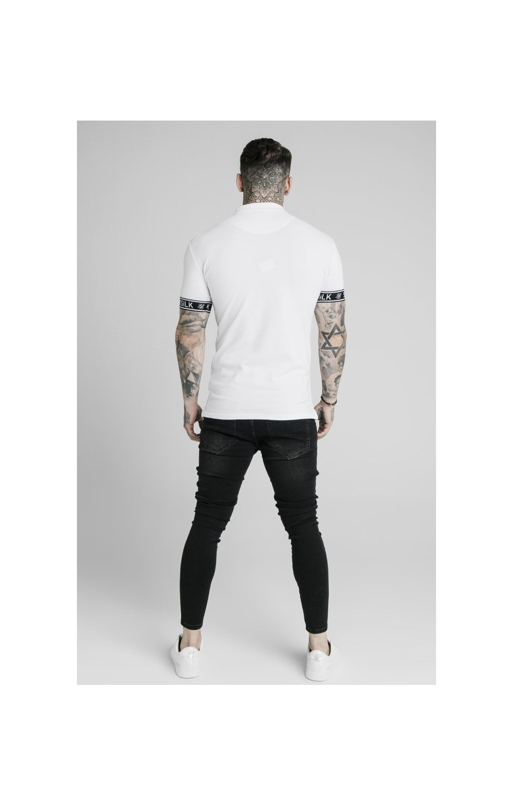 SikSilk S/S Tech Polo Tee - White (2)