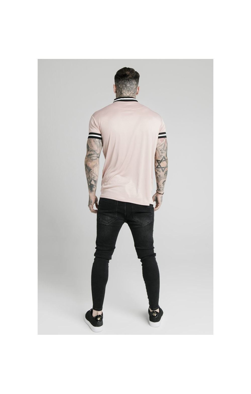 Load image into Gallery viewer, SikSilk S/S Poly Rib Collar Tee - Dusky Pink (5)