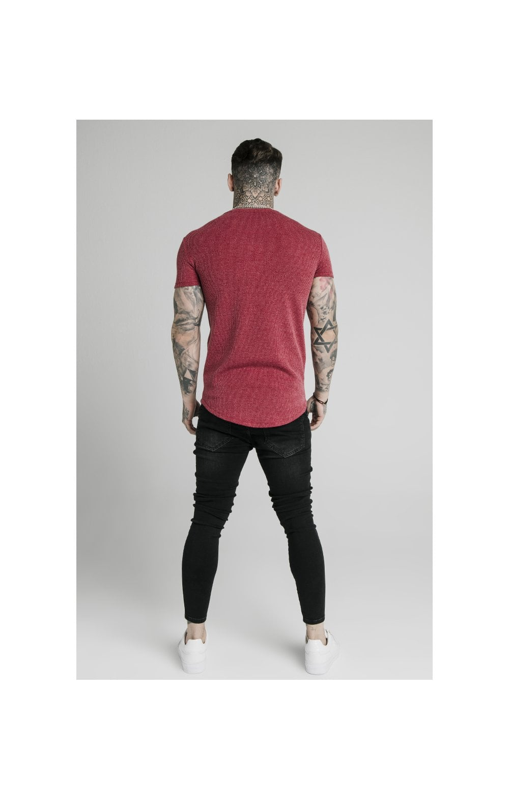Load image into Gallery viewer, SikSilk Rib Knit Gym Tee - Red (4)