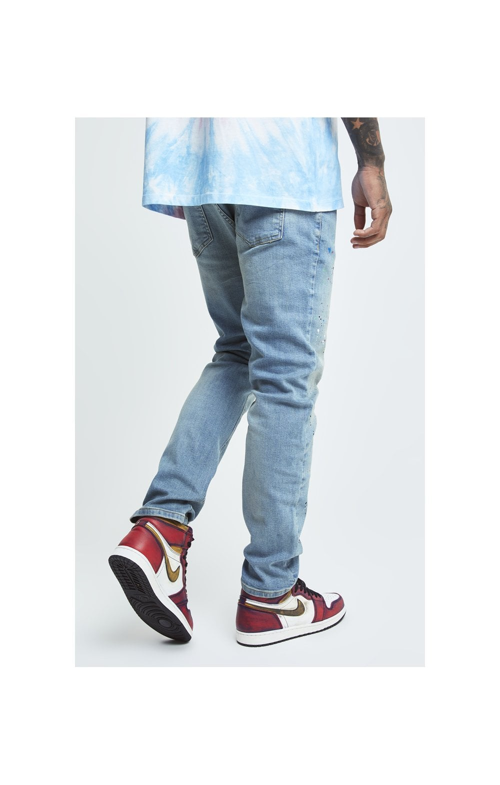 Load image into Gallery viewer, SikSilk X Steve Aoki Loose Fit Riot Denims - Light Wash (1)