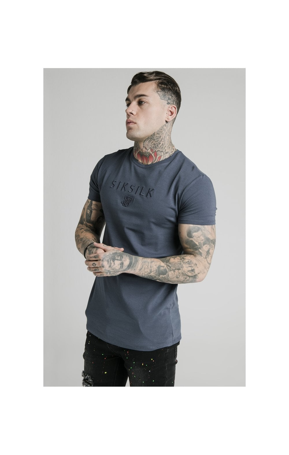Load image into Gallery viewer, SikSilk S/S Astro Gym Tee - Cosmic Slate